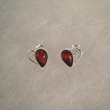 Boucles d'oreilles puce duo de coeur 
